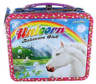 Unicorn Metal Lunchbox with Charm