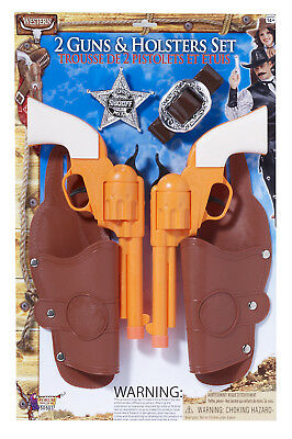 Double Gun & Holster Costume Accessory Set Adult One Size