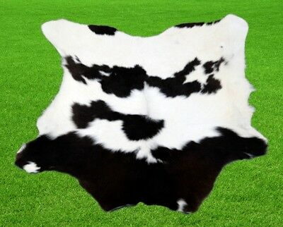 "New Calfhide Rugs Area Cow Skin Leather 4.86 sq.feet (28""x25"") Calf hide A-1143"