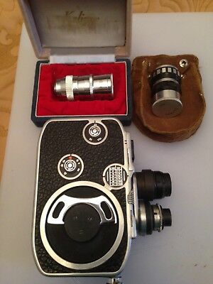 Paillard Bolex B8 with Two Lens Mounted , Two Extra Lens and Accessories