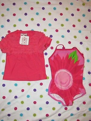 NWT Hanna Andersson Swimsuit & Rashguard size 80 18 24 months swim suit girls