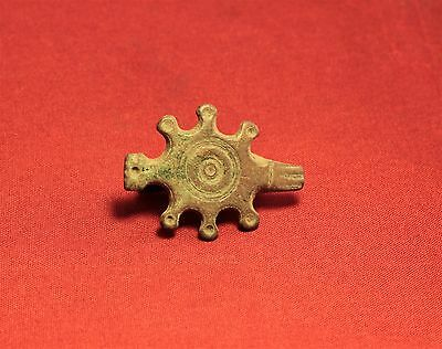 Rare Ancient Roman Sun Fibula or Brooch, 1. Century