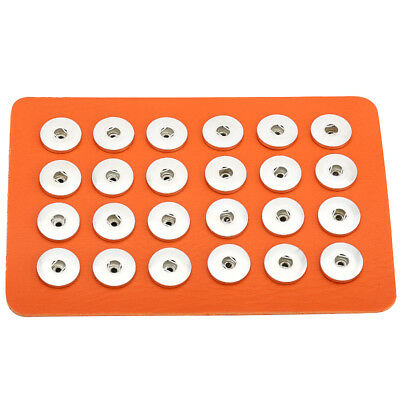 24pcs Holes Genuine Leather Snap Button Display Ginger Stand Board Fit 18mm
