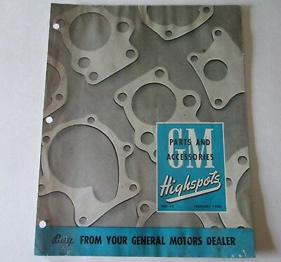 Scarce Feb 1946 Gm Highspots General Motors Of Canada Parts Brochure Original