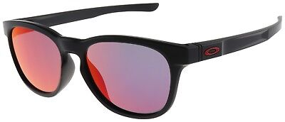 Oakley Stringer Sunglasses OO9315-09 Matte Black Frame with Ruby Iridium Lens