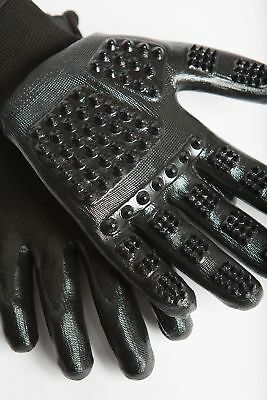 HandsOn Revolutionary Grooming/Bathing Gloves for Pets Black Size Large