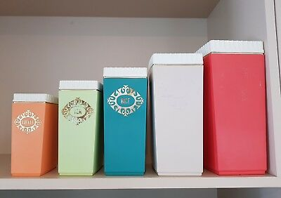 Retro Food containers (×5)