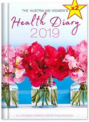 2 X 2019 The Australian Women's Health Diary A5 WTV Week To View AWW - New
