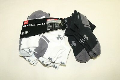 LOT OF 10 PAIR UNDER ARMOUR Boys Resistor 3.0 Low Cut Socks - YOUTH LARGE