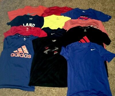 Huge Lot Boys L (14-16) & Xl Shirts - Nike, Under Armour, Adidas & More