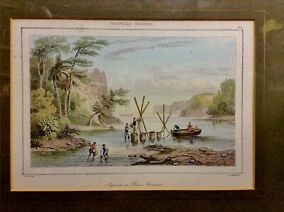 BRT PNG Explorers Settlers New Ireland Hand Coloured Antique Engraving 120 Year