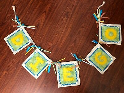 """Handmade Banner Decorative Baby Boy Name """"DIEGO"""" Hanging Decor FREE SHIPPING"""