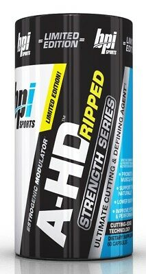 BPI Sports Strength Series A-HD Ripped 60 Caps lean oxy Test Booster xtreme ahd