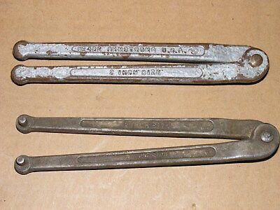 "(2) Armstrong 2"" Face Pin Spanner Wrenches #482"
