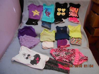 19 Pc Mixed Lot Girls Size 10 & 10-12 Used Summer Clothing
