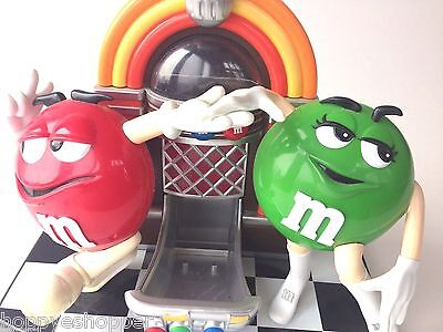 M&M Candy Dispenser Jukebox Dancing GREEN RED Empty Collectible Mint