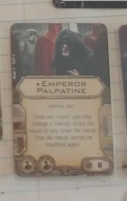 Star wars x wing palpatine crew card