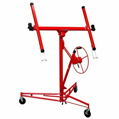 11FT Drywall Panel Hoist Dry Wall Rolling Caster Lifter Construction Tool