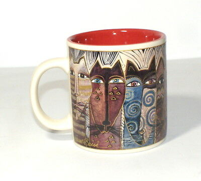 2004 Laurel Burch Coffee Mug Cup Cats Wine Things Unlimited