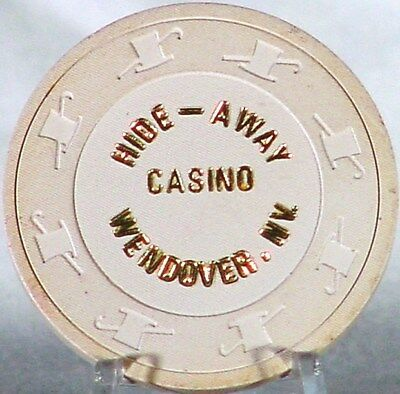 "Rare $1.00 Hide-Away Club chip ""NEW"" Wendover, Nevada Casino Chip,"