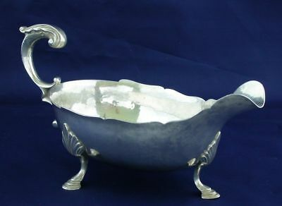 ANTIQUE STERLING SILVER SAUCE OR GRAVY BOAT  12.3 ounces