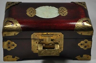 VINTAGE ROSEWOOD Jewelry Box Asian 3250 PicClick