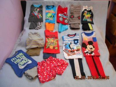 21 Pc Mixed Lot Boys Size 3-3T Used Summer Clothing