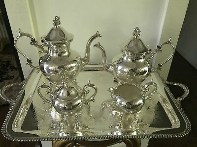 Late 29th Century Art Deco Silver Plate Tea and Coffee Service - 4 Piece Set