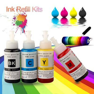 70ML Continuous Ink Cartridge System Refill Ink Kit for Epson L360 L301 Printer