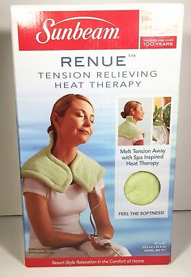 Sunbeam Renue Tension Relieving Heat Pad Therapy Wrap Stress Relief 885-911
