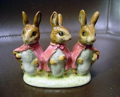 Adorable Beswick Beatrice Potter Flopsy Mopsy & Cottontail Figure 1954