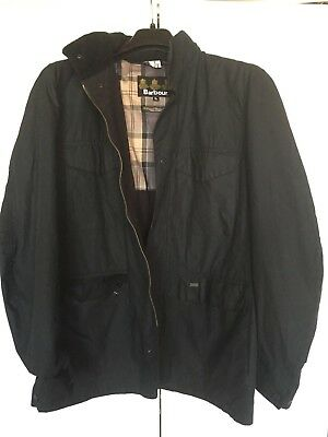 Barbour Tailored Sapper Waxed Cotton Jacket Labeled Size black $ 429 MSRP Medium