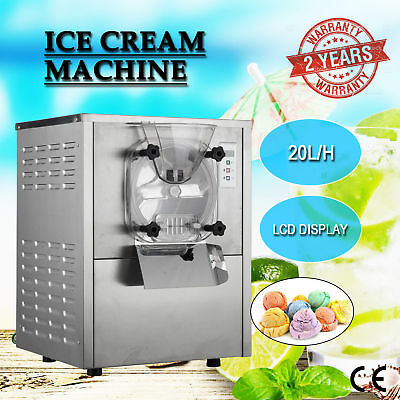 1 Flavor Commercial Frozen Hard Ice Cream Machine Maker 20L/H w/ LCD Display