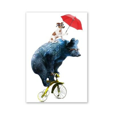 Bear Modern Art Oil Painting Canvas Print Wall Picture Home Room Decor Unframed