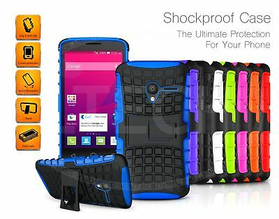 For Huawei Y6 (2018) ATU-L11 - Rugged Grip Builder Shockproof Tough Case Cover