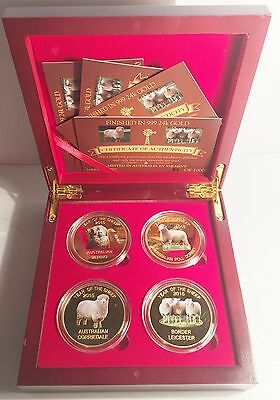 2015 Boxed Set of 4 x 1 oz Year Of The Sheep Coins Limited to only 1000 Sets