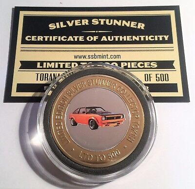 NEW A9X Holden Torana Colour Silver Stunner Coin with C.O.A. LTD 500