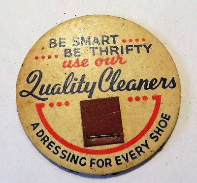 "Vintage Milk Dairy Cream Bottle Cap 1-5/8"" Ads for Cleaners & Shoe Polish"