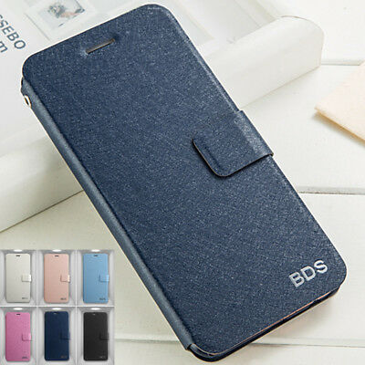 Luxury Silk Grain Leather Wallet Flip Case Cover For Huawei P20 Lite Pro P Smart