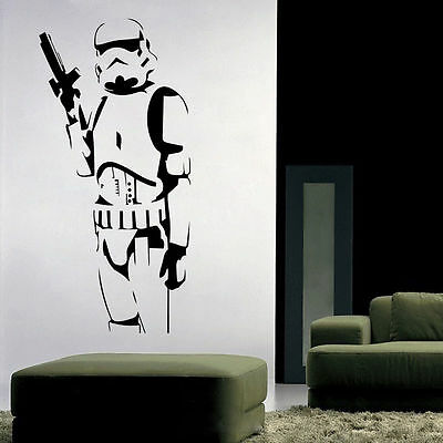Wall Sticker Stormtrooper Star Wars Removable Decal Vinyl Mural art Home Decor