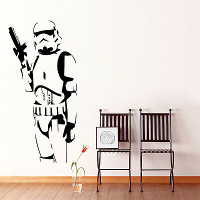 Star Wars Stormtrooper Wall Art Sticker Kids Boys Room Decor Mural Vinyl Decals