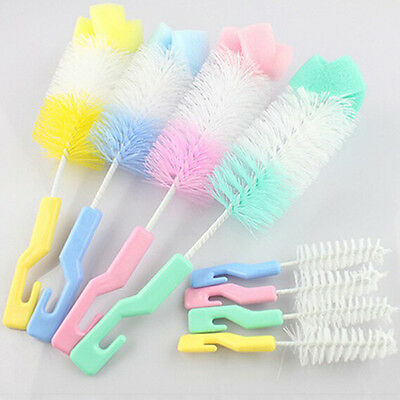 360Degree Baby Nipple Brush Bottle Brush Sponge Cleaner With Pacifier Brush!
