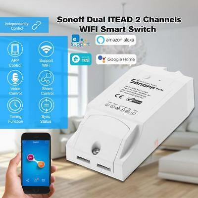 SONOFF Dual 2Canaux WIFI Intelligent Commutateur Smart Timer Switch Google Home