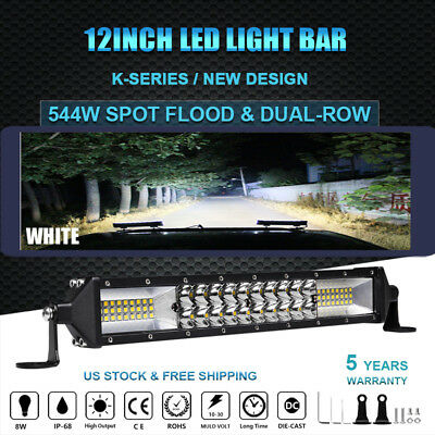 CREE 12inch LED Light Bar Spot & Flood Offroad Truck Boat For Jeep Ford SUV 4X4