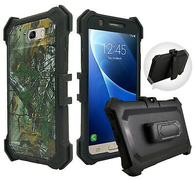 For Samsung Galaxy J7 skypro2017 Built in Screen Rugged Holster Belt Clip Case