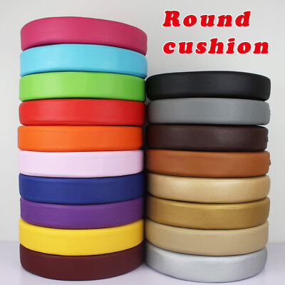 Synthetic Leather Round Seat Cushion Chair Pads Office Car Foam Cushions