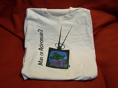 "MAN OR ASTROMAN?  vintage T-shirt  90s  ""Future TV"" design  Used, XL"