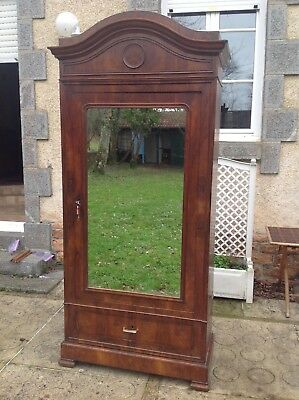 French antique vintage Louis XV style burr walnut wardrobe