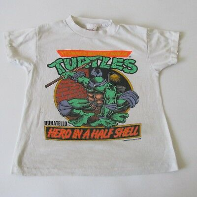 Vintage 80s Teenage Mutant Ninja Turtles TMNT Donatello Youth 10-12 T-Shirt