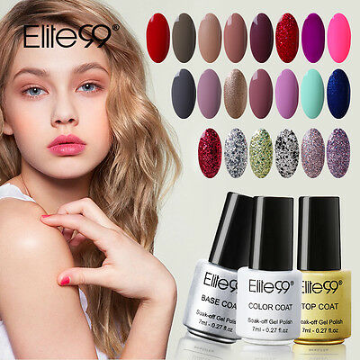 Elite99 Soak off UV LED Esmalte Semipermanente Brillante de Uñas en Gel Manicura